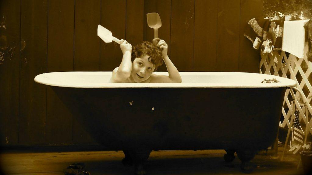初めての一人お風呂